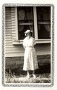 Aunt Mollie standing South of her house in 1935