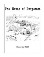 Burgess Family Books — House of Burgesses
